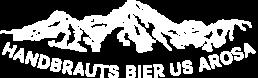 Logo Weiss Handbrauts Bier us Arosa von Arosabräu